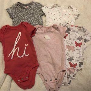 3 month Carter's onesie set